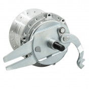WHEEL HUB FOR MOPED PEUGEOT 103 -REAR- 36 spokes- WITH DRUM BRAKING PLATE + AXLE -SELECTION P2R-
