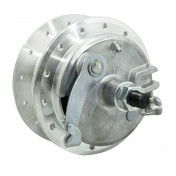 WHEEL HUB FOR MOPED PEUGEOT 103 -FRONT- 28 spokes- WITH DRUM BRAKING PLATE + AXLE -SELECTION P2R-
