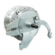 WHEEL HUB FOR MOPED PEUGEOT MBK 51 - Ø 80mm WITH DRUM BRAKING PLATE + AXLE -SELECTION P2R-