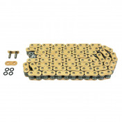 "CHAIN FOR MOTORBIKE AFAM 520 130 LINKS XS-RING HYPER REINFORCED ""GOLD"" (A520XHR2-G 130L)"
