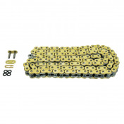 CHAIN FOR MOTORBIKE- AFAM 428 114 LINKS XS-RING REINFORCED GOLD - -(A428MX-G 114L)