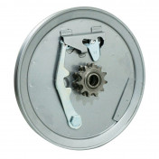 HEAD PULLEY FOR MOPED MBK 88, 41 REINFORCED - STEEL GREY - WITH 11 teeth REMOVABLE SPROCKET ( INA BEARING )