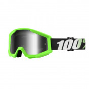 MOTOCROSS GOOGLES 100% STRATA - GREEN - MIRORED LENS - NO FOG/ANTI-SCRATCH