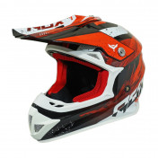 HELMET-CROSS ENDURO ADX MX2 GLOSS RED XL (DOUBLE D RING)