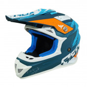 HELMET-CROSS ENDURO ADX MX2 MATT BLUE L (DOUBLE D RING)