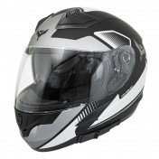 HELMET-FULL FACE ADX XR3 FEELING BLACK/SILVER/GREY - MATT XXL (DOUBLE VISORS)
