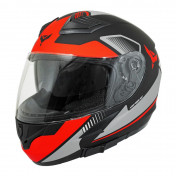 HELMET-FULL FACE ADX XR3 FEELING BLACK/SILVER/RED - MATT XL (DOUBLE VISORS)