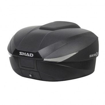 TOP BOX SHAD SH58X EXPANDABLE BLACK/CARBON 58L AVEC WITH MOUNTING PLATE- (3 BOX IN ONE : 46/52/58) CAPACITY:2 FULL FACE) (L61xH27xP48cm) (D0B58206)
