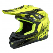 HELMET-CROSS ENDURO ADX MX2 GLOSS FLUO YELLOW L (DOUBLE D RING)