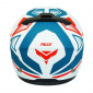 HELMET-FULL FACE ADX XR3 FEELING WHITE/RED/BLUE - MATT XL (DOUBLE VISORS)