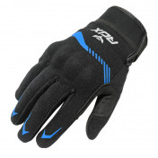 GLOVES-SPRING/SUMMER ADX VISTA WITH KNUCLE ARMOR- BLACK/BLUE EURO 12 (XXL) (APPROVED EN 13594:2015)