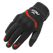 GLOVES-SPRING/SUMMER ADX VISTA WITH KNUCLE ARMOR- BLACK/RED EURO 11 (XL) (APPROVED EN 13594:2015)