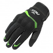 GLOVES-SPRING/SUMMER ADX VISTA WITH KNUCLE ARMOR- BLACK/KAWA GREEN EURO 8 (S) (APPROVED EN 13594:2015)