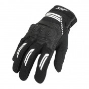 GLOVES - SPRING/SUMMER- ADX DENVER BLACK/WHITE EURO 8 (S) (APPROVED EN 13594:2015)