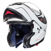 HELMET - FLIP-UP MT ATOM SV -DOUBLE VISORS- SOLID GLOSSY WHITE M