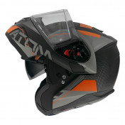 HELMET - FLIP-UP MT ATOM SV QUARK A4 -DOUBLE VISORS- MATT FLUO ORANGE XL