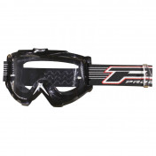 MOTOCROSS GOGGLES PROGRIP 3301 BLACK CLEAR VISOR ANTI-SCRATCH/ NO FOG