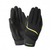 """GLOVES-SPRING/SUMMER TUCANO """"for men"""" MIKY BLACK/YELLOW FLUO EURO 8 (S) (APPROVED EN 13594:2015-CE) (TOUCH SCREEN FUNCTION)"""