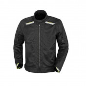 JACKET FOR MEN - TUCANO - NETWORK 2G MESH BLACK/FLUO YELLOW WITH SHOULDERS+ELBOW PROTECTIONS - EURO 52 (3XL) (APPROVED EN 17092 CE - CLASSE A)