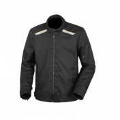 TUCANO JACKET FOR MEN - TEXWORK POLYESTER BLACK/FLUO YELLOW WITH SHOULDERS+ELBOW PROTECTIONS - EURO 44 (M) (APPROVED EN 17092 CE - CLASSE A)