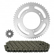 CHAIN AND SPROCKET KIT FOR APRILIA 50 RX 2010>2016 420 53x12 (OEM SPECIFICATIONS) -TOP PERFORMANCES-