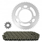 CHAIN AND SPROCKET KIT FOR BETA 50 RR ENDURO 2002>2004 420 11x51 (OEM SPECIFICATIONS) -TOP PERFORMANCES-
