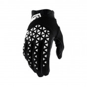 GLOVES - 100% AIRMATIC BLACK/WHITE EURO 10 (L) (APPROVED EN 13594:2015)