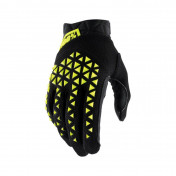 GLOVES - 100% AIRMATIC BLACK/FLUO YELLOW EURO 11 (XL) (APPROVED EN 13594:2015)