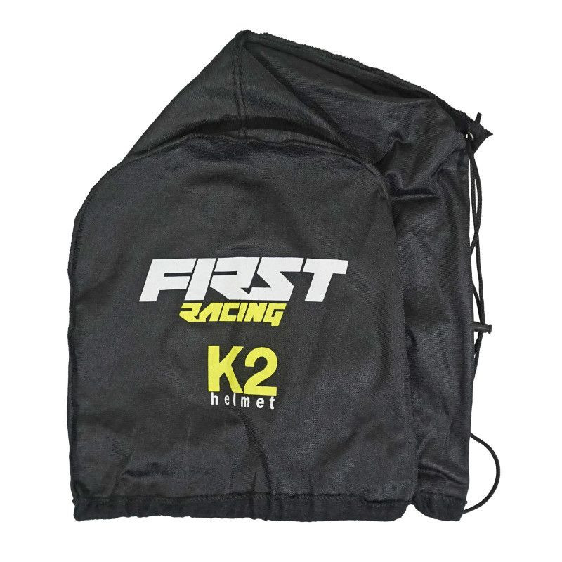 CASQUE CROSS ADULTE FIRST RACING K2 GRIS/FLUO/NOIR L - P2R
