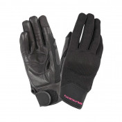 GLOVES - SPRING/SUMMER- TUCANO CALAMARA LADY BLACK EURO 8,5 (L) (APPROVED EN13594:2015) (TOUCH SCREEN FUNCTION)
