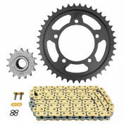 CHAIN AND SPROCKET KIT FOR APRILIA 1100 TUONO 2015> 525 15x42 (Ø SPROCKET 100/120/10.25) (OEM SPECIFICATIONS) -AFAM-