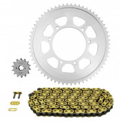 CHAIN AND SPROCKET KIT FOR APRILIA 125 SX IE 2018>2020 428 14x62 (Ø SPROCKET 105/125/8.5) (OEM SPECIFICATIONS) -AFAM-