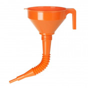 FUNNEL - PRESSOL - POLYETHYLENE ORANGE Ø 160mm WITH FLEXIBLE EXTENSION (SOLD PER UNIT)
