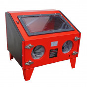 BLASTING CABINET - 3 to 8 BARS PRESSURE - 145 LITRES/MIN (88x57x140cm)