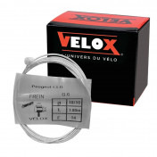 CABLE FOR BRAKES - FOR MOPED - VELOX G.6 FOR PEUGEOT head 8x8mm Ø 18/10 Lg 1,80M (14 wires) (IN BOX PER 25)