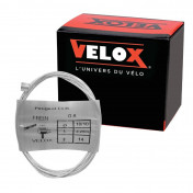 CABLE FOR BRAKES - FOR MOPED - VELOX G.6 FOR PEUGEOT head 8x8mm Ø 18/10 Lg 2,25M (14 wires) (BOITE DE 10)