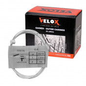 CABLE FOR BRAKES - FOR MOPED - VELOX G.6 FOR PEUGEOT head 8x8mm Ø 15/10 Lg 1,80M (14 wires) (IN BOX PER 25)