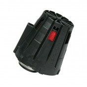 AIR FILTER - MALOSSI E 5 STRAIGHT/OFF CENTRE FOR PHBG 15-21 BLACK COVER- RED FOAM- (EXCEPT FOR PEUGEOT)