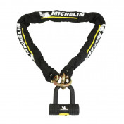 MOTORCYCLE ANTITHEFT- CHAIN LOCK MICHELIN -LASSO CHAIN 1.20 M - LINKS Ø 13,5m + DISC LOCK ( SRA APPROVED) (10 years guarantee)