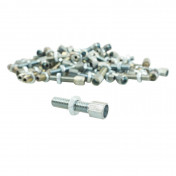 CABLE ADJUSTMENT SCREW - FOR MOPED M6 x 100 Lg 24mm Ø 6,8mm Drill 3 (STEEL) (100 In a box)