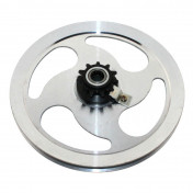HEAD PULLEY (REPLAY ALUMINIUM) FOR MOPED PEUGEOT 103 SP-MVL - WITH 11 TEETH SPROCKET.