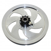 HEAD PULLEY (REPLAY ALUMINIUM) FOR MOPED MBK 51 - WITH 11 TEETH SPROCKET.