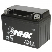 BATTERY 12V 5 Ah YT4A-3 NHK MAINTENANCE FREE GEL READY FOR USE (Lg114xL71xH86)PREMIUM QUALITY