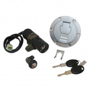IGNITION SWITCH FOR 50cc MOTORBIKE MBK/YAMAHA X-POWER/TZR50 2003> (WITH SEAT LOCK + FUEL TAPE) -SELECTION P2R-