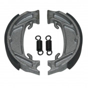 BRAKE SHOE FOR MOPED MBK 51 -FRONT+REAR- (Ø 100mm -2 SPRINGS) (SOLD IN PAIRS)-SELECTION P2R-