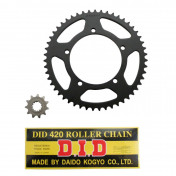 CHAIN AND SPROCKET KIT FOR APRILIA 50 MX SM 2003>2005 420 11x51 (BORE Ø 105mm) (OEM SPECIFICATION) -DID-