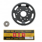 CHAIN AND SPROCKET KIT FOR DERBI 50 SENDA SM CLASSIC 1997->2003 420 13x53 (BORE Ø 53mm + OFFSET) (OEM SPECIFICATION) -DID-