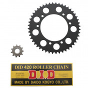 CHAIN AND SPROCKET KIT FOR RIEJU 50 SMX 2002>2004 420 11x48 (BORE Ø 105mm) (OEM SPECIFICATION) -DID-