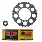 CHAIN AND SPROCKET KIT FOR RIEJU 50 MRT 2009>2012, SMX 2005>2008, MRX 2005>2008 420 11x52 (BORE Ø 105mm) (OEM SPECIFICATION) -DID-
