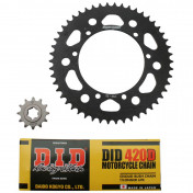 CHAIN AND SPROCKET KIT FOR SUZUKI 50 SMX/RMX 2001>2003 420 12x50 (BORE Ø 110mm) (OEM SPECIFICATION) -DID-